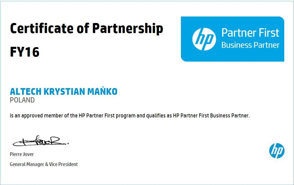 HP Partner First